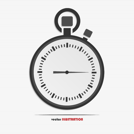 Abstract stopwatch web icon for your design Vector