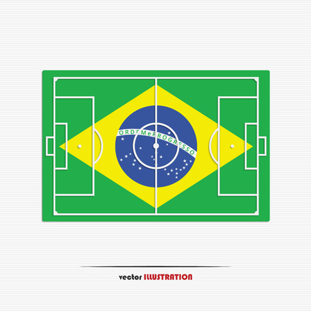 Vector illustration of soccer field for your design Vector