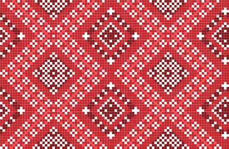 gestickt: Vektor-Illustration der traditionellen nationalen Stickmuster