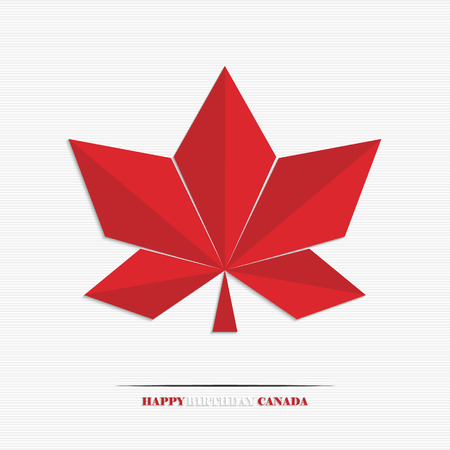 First of july, Canada day, stylized maple leaf for your design Vector