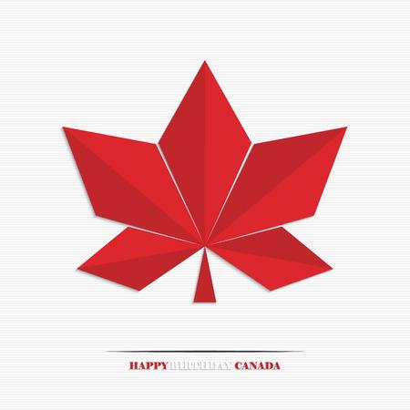 Zunächst Juli, Kanada Tag, stilisierte Ahornblatt für Ihr Design Standard-Bild - 29304821