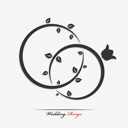 Silhouette of wedding rings for your design Vector