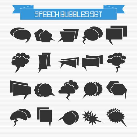 set of speech bubbles for your design Vector