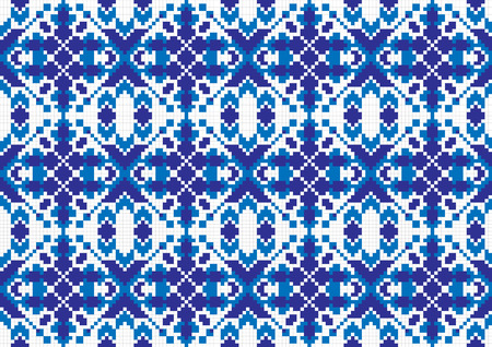 illustration of seamless traditional national embroidered pattern Vector