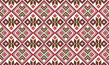 gestickt: Illustration nahtlosen traditionellen nationalen Stickmuster