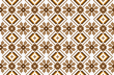 russian pattern: Vector illustration of seamless traditional national embroidered pattern