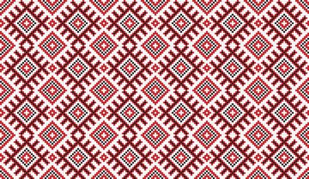 gestickt: Illustration von nahtlosen traditionellen nationalen Stickmuster