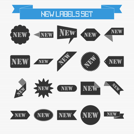 Vector set of new labels for your design Vector