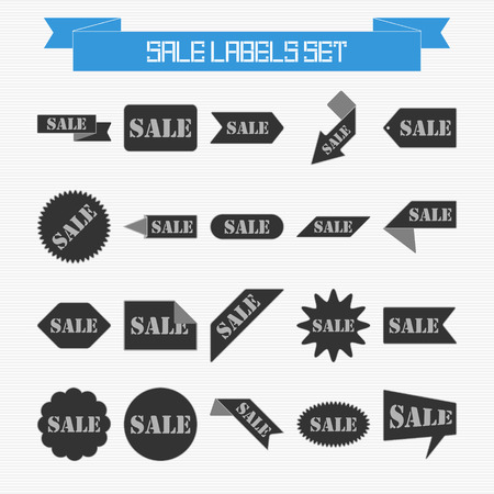 Vector set of sale labels for your design Vector