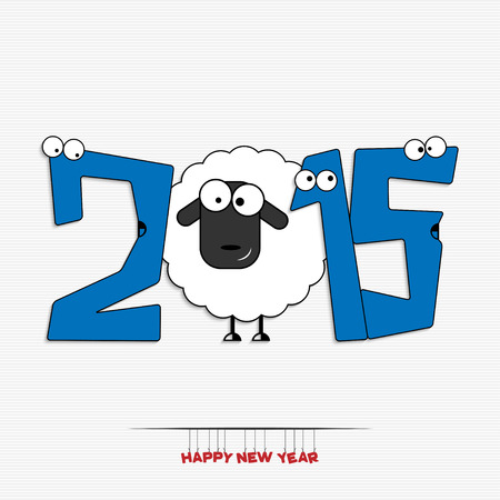 Happy new year 2015 greeting card design Vector