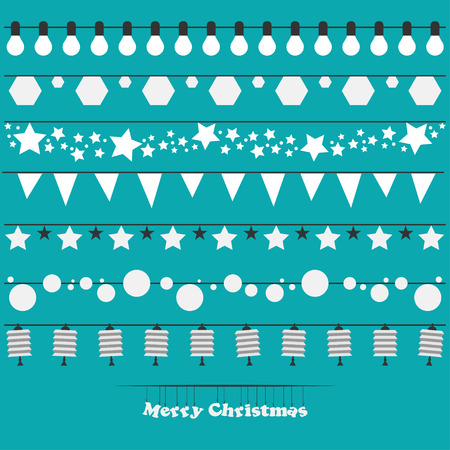 Vector set of Christmas lights for your design Vector