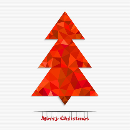 happy new years: Merry christmas and happy New Years tree made of colorful triangles for your design