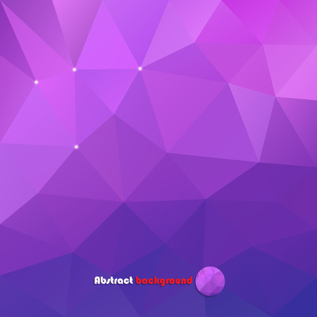 Abstract purple background made of triangles for your design Çizim