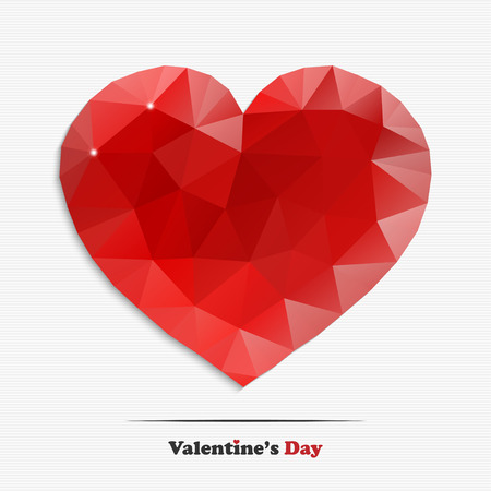 rich couple: Valentines day red diamond heart for your design