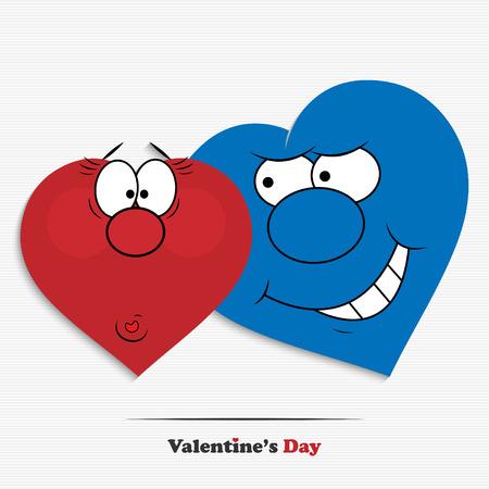 caras graciosas: Resumen de dibujos animados corazones d�a de San Valent�n para su dise�o