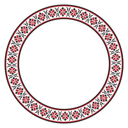 gestickt: Vektor-Illustration der traditionellen slawischen Rundstickmuster