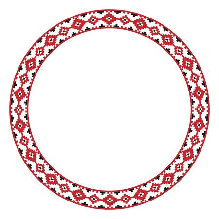 slavic: Illustrazione vettoriale di tradizione slava rotondo modello ricamato