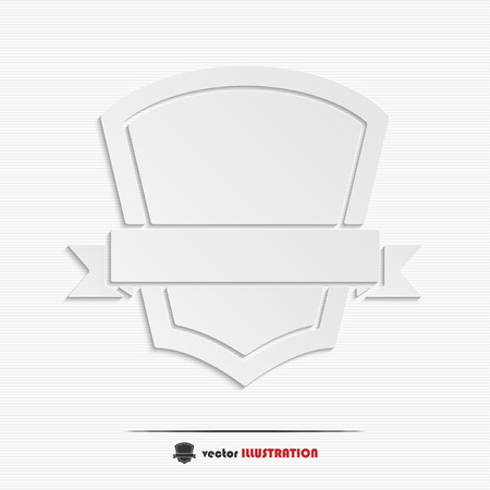 guaranty: Abstract shield with ribbon web icon for your design