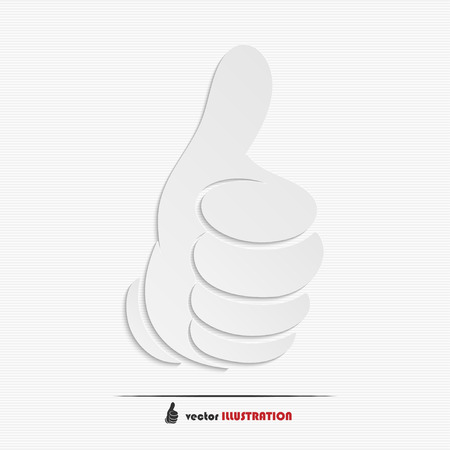 Abstract thumbs-up web icon for your design Çizim