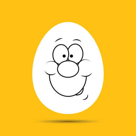 smiley face cartoon: Abstract funny easter egg for your design Illustration
