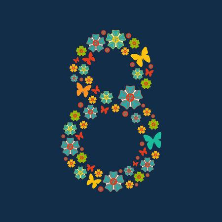 femme papillon: Journ�e de la carte de voeux de mars 8. internationale de la femme pour votre conception