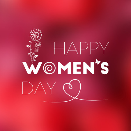 March 8. International Women's Day greeting card for your design