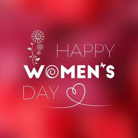 dia: Tarjeta de felicitación del día 8 de marzo Internacional de la Mujer para su diseño