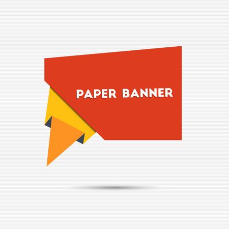 papier banner: Abstrakte bunte Papier-Banner f�r Ihr Design Illustration