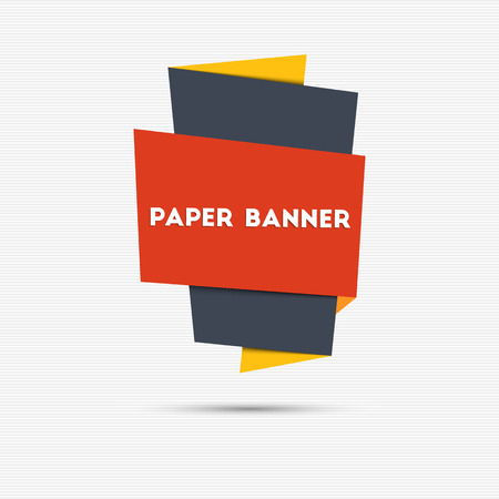 paper banner: Abstract colorful paper banner for your design