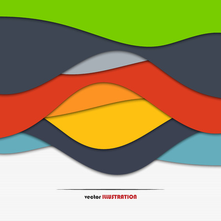 colored paper: Abstract colored paper template as a background for your design Illustration