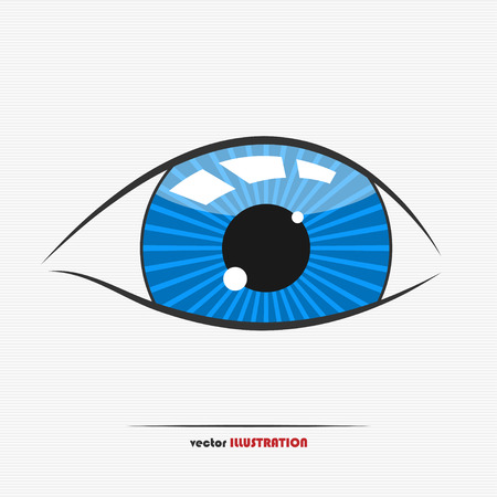 eye for an eye: Vector illustration of a childs eye for your design