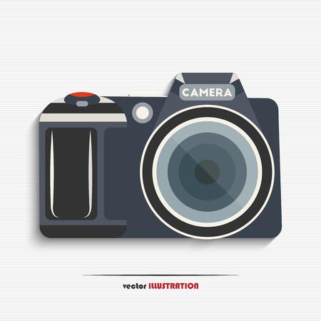 digital slr: Vector illustration of digital SLR camera for your design Illustration