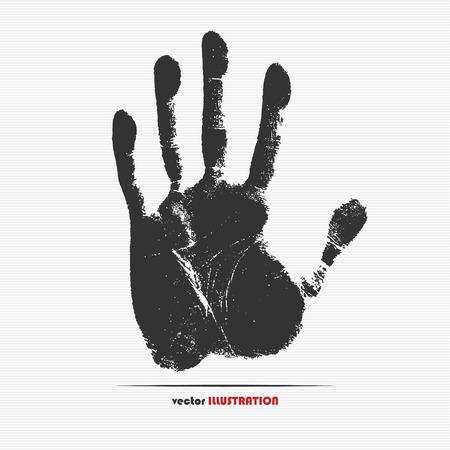 Vector illustration of handprint for your design