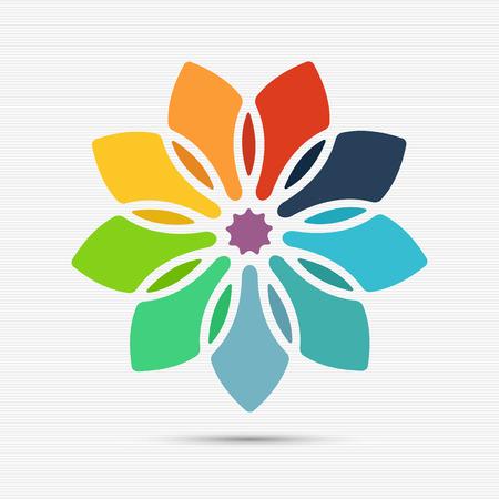 Astratto modello di fiori colorati per la progettazione Archivio Fotografico - 37294390