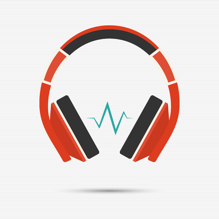Vector illustration of headphones for your design