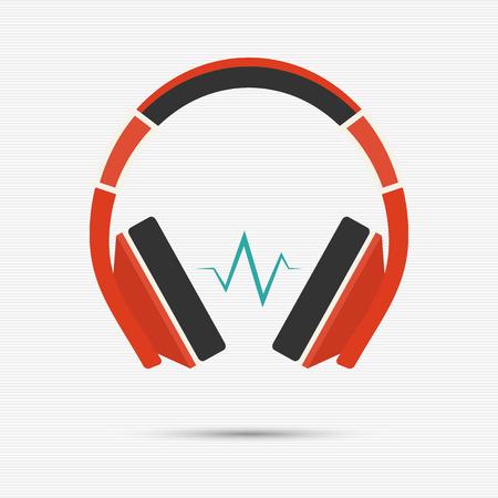 Vektor-Illustration der Kopfhörer für Ihr Design Standard-Bild - 37294751