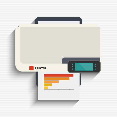 multifunction printer: Vector illustration of printing printer for your design