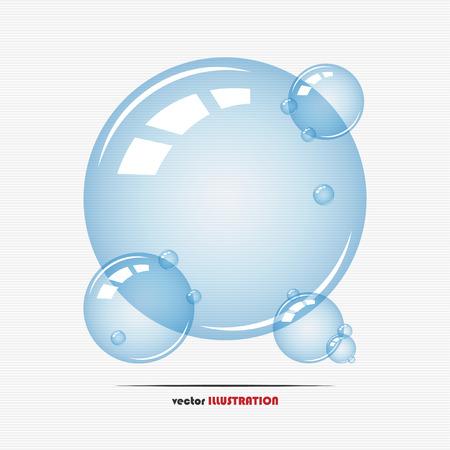 soap suds: Vector illustration of transparent soap bubbles for your design Illustration