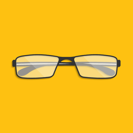 corrective lenses: Vector illustration of spectacles for your design