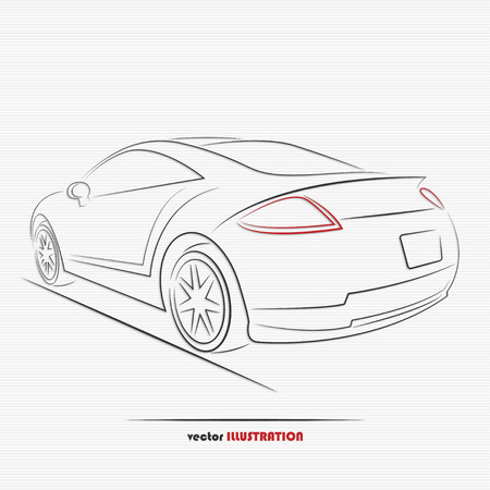 Silhouette of sport car for your design