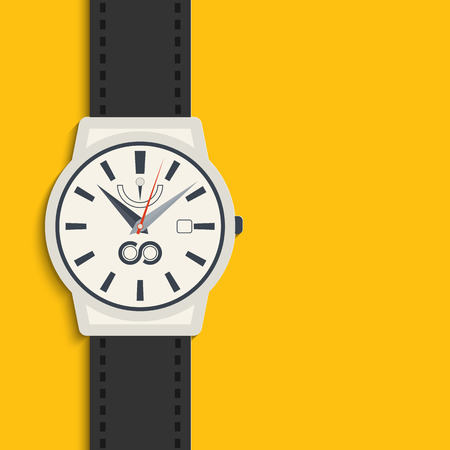 chronograph: Vector illustration of watch for your design