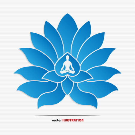 Vector illustration of yoga symbol for your design
