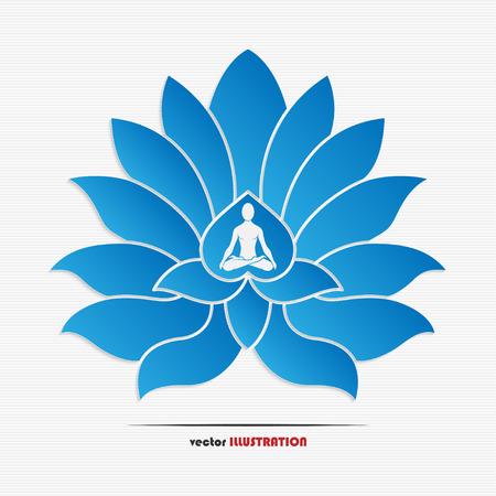 Vector illustration of yoga symbol for your design