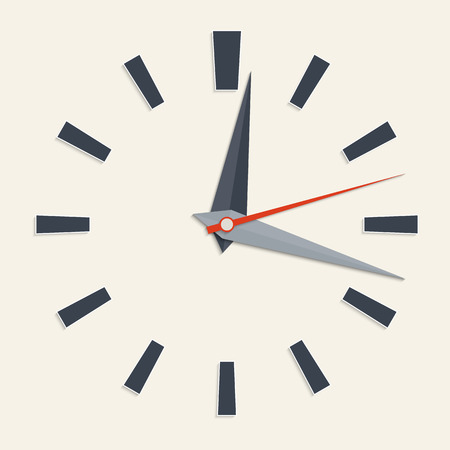 round the clock: Vector illustration of analog clock face for your design