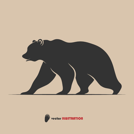 bear paw: Vector illustration of brown bear symbol for your design