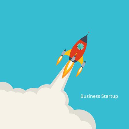 coup de pouce: Vector illustration d'un nouveau d�veloppement de d�marrage du projet d'entreprise ou le lancement de nouveaux produits ou services pour votre conception Illustration
