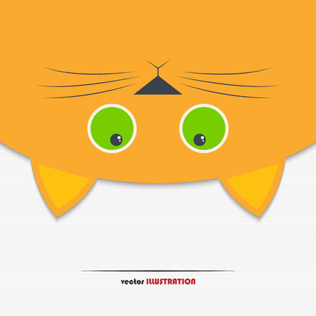 upside down: Vector illustration of cute cat hanging upside down for your design
