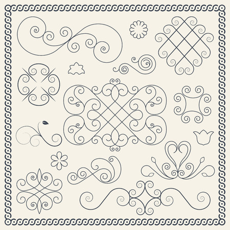 Set of ornament elements for your design Vector