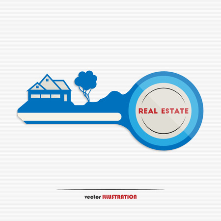 Vector illustration of an abstract real estate icon for your design Vector