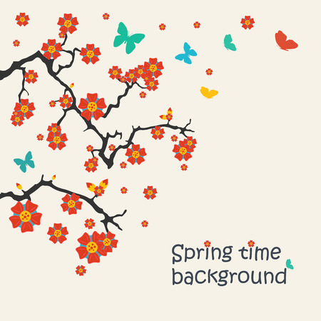 Vector illustration of spring background for your design Vector